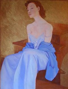 L`Escalier` by Perez Petriarte Oil on Canvas