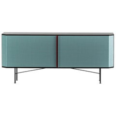 """Perf"" Sideboard in Varnished Steel by Moroso for Diesel"