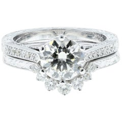 Perfect Fit 'Flush-Fit' Round Diamond Engagement Ring and Wedding Band
