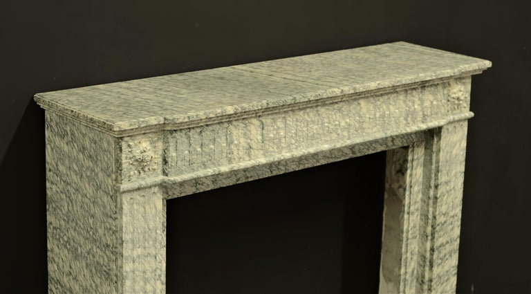Perfect French Louis XVI Fireplace Mantel in Vert d'estours Marble For Sale 7