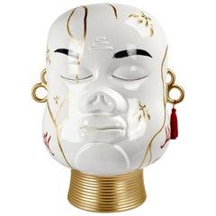 Modern Decorative Ceramic Head Decor, Contemporary Handmade Figurine Sculpture