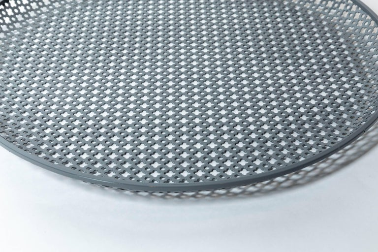 French Perforated Enameled Platter by Mathieu Matégot For Sale