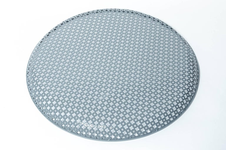 Perforated Enameled Platter by Mathieu Matégot In Excellent Condition For Sale In East Hampton, NY