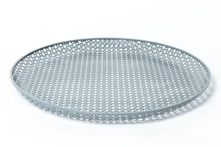 Mid-20th Century Perforated Enameled Platter by Mathieu Matégot For Sale