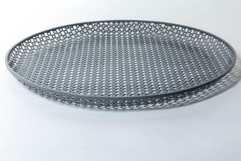 Metal Perforated Enameled Platter by Mathieu Matégot For Sale