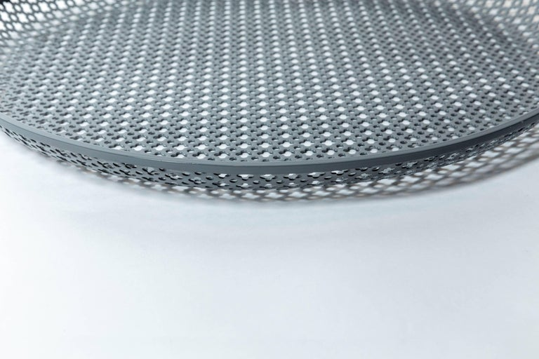 Perforated Enameled Platter by Mathieu Matégot For Sale 1