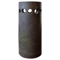 Perforated Italian Green Ceramic Vase Rosenthal Netter