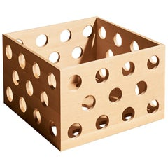 Perforated Medium Storage Box, Solid Birch Wood Perforated Box by Erik Olovsson