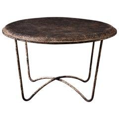 Perforated Metal Cocktail Table by Mathieu Matégot