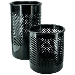 Perforated Metal Office Wastebaskets Trash Cans Italy Memphis Sottsass Ferrari