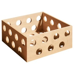 Perforated Small Low Storage Box, Birch Wood Perforated Box by Erik Olovsson