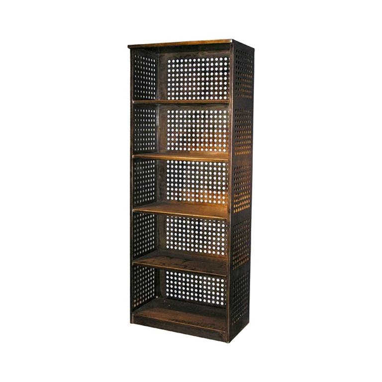 Perforated Steel Bookcase