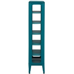 Perforated Stool Shelf 1335 in Teal by Frederic Gaunet and Tolix