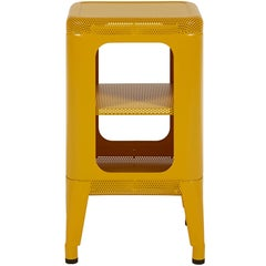 Perforated Stool Shelf 500 in Mustard Yellow by Frederic Gaunet and Tolix