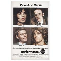 """Performance"" 1970 U.S. One Sheet Film Poster"
