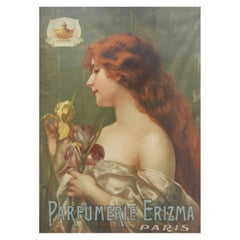 Perfume Paris Advertising Poster Wall Plaque Erizma Belle Epoque