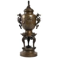 Perfume Burner in Patina Bronze