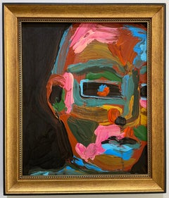 Colorful Face #3, Peri Gutierrez Mixed Media Abstract Multicolor