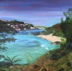 Peri Taylor, Sunny Cove, Salcombe, Coastal Art, Devon Landscape Art