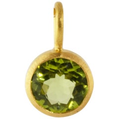 Ico & the Bird Fine Jewelry Peridot 22 Karat Gold Pendant