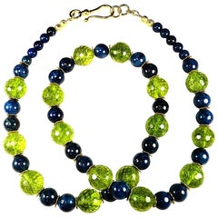 Peridot and Apatite Statement Necklace
