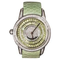 Peridot and Diamond Watch
