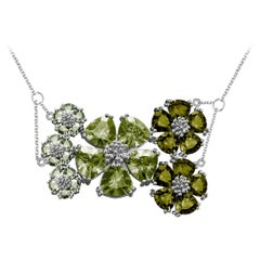 Mixed Green Amethyst Blossom Renaissance Necklace