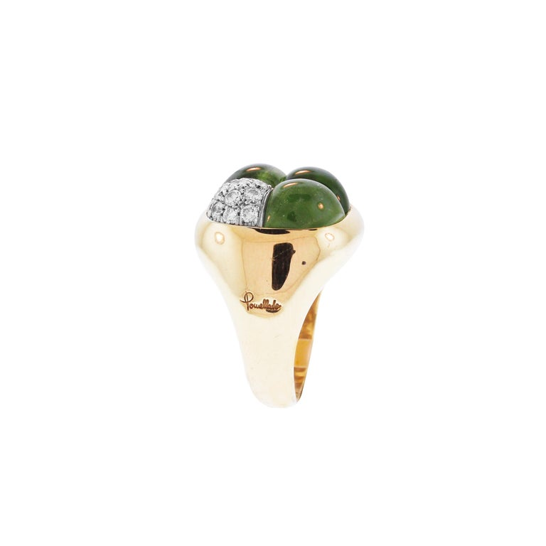 Women's Peridot Diamond and Gold Cocktail Ring Pomellato For Sale