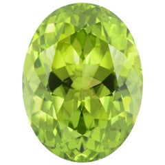 Peridot Ring Gem 10.03 Carat Oval