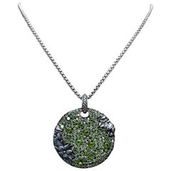 Stephen Dweck Peridot Pave Pendant Necklace in Sterling Silver