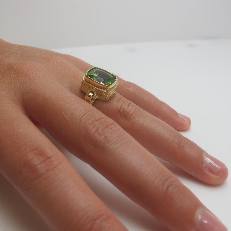 Artisan Peridot Ring For Sale