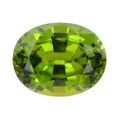 Peridot Ring Gem 18.96 Carat Oval Loose Gemstone