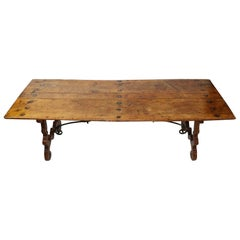 Period 18th Century Walnut Trestle Refectory Table