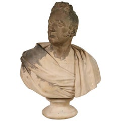 Period 19th Century Regency Plaster Bust of a Man by Samuel Joseph
