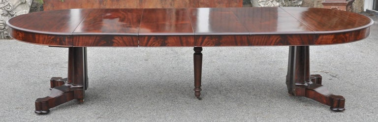 Mahogany Period American Early 19th Century Round Extension Dining Table by Charles Hobe For Sale