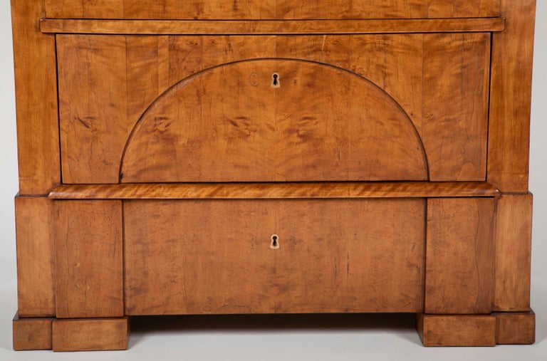 Mid-19th Century Period Biedermeier Birch Chest with Modern Appeal For Sale