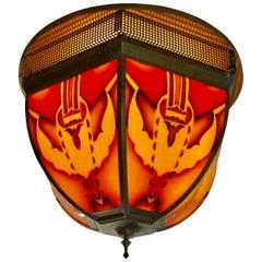 Period Ceiling Lamp Amsterdam School, 1920s