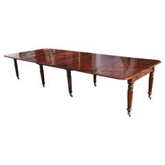 Period Early 19th Century Irish Regency Cuban Mahogany Dining Table