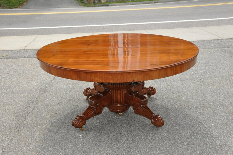 Walnut Baltic or Scandinavian neoclassical dining table