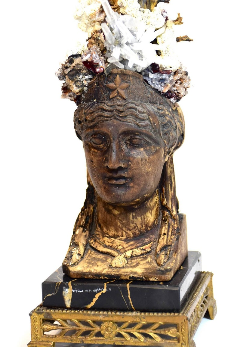 Period Empire Bust Fragment With Black Coral Sea Fan