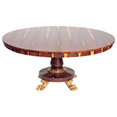 Period English Regency Centre Table of Exotic Calamander