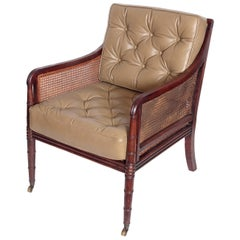 Period English Regency Library Chair
