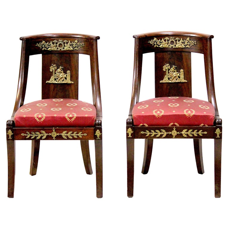 Period French Empire Chairs, circa 1815 with Famed ...