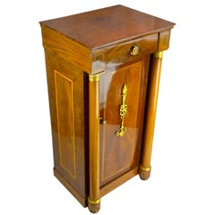 Period French Empire Mahogany Bedside Table