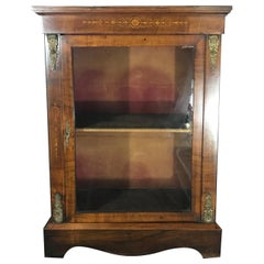 Period French Marquetry Bookcase or Display Cabinet with Gold Detail