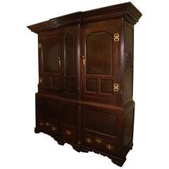 Period George II Oak Cupboard