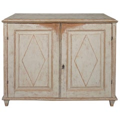 Period Gustavian Sideboard in Worn Paint