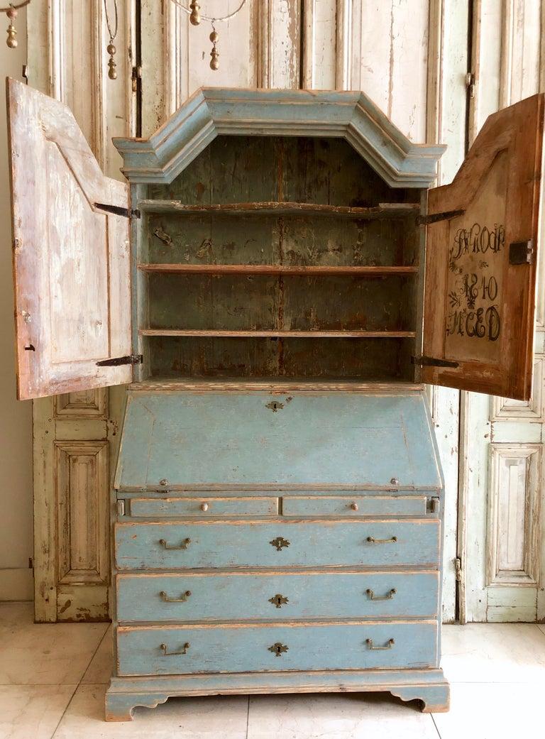 Late 18th Century Period Gustavian Swedish Secretaire Cabinet For Sale