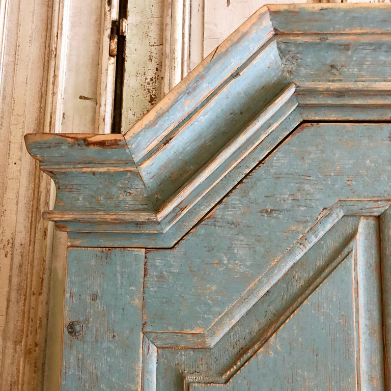 Pine Period Gustavian Swedish Secretaire Cabinet For Sale
