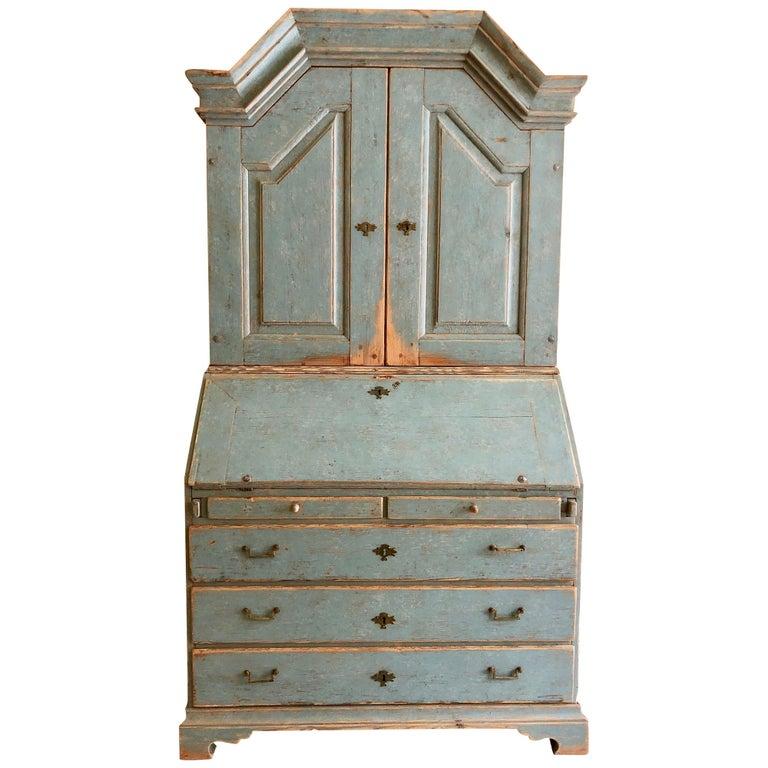 Period Gustavian Swedish Secretaire Cabinet For Sale